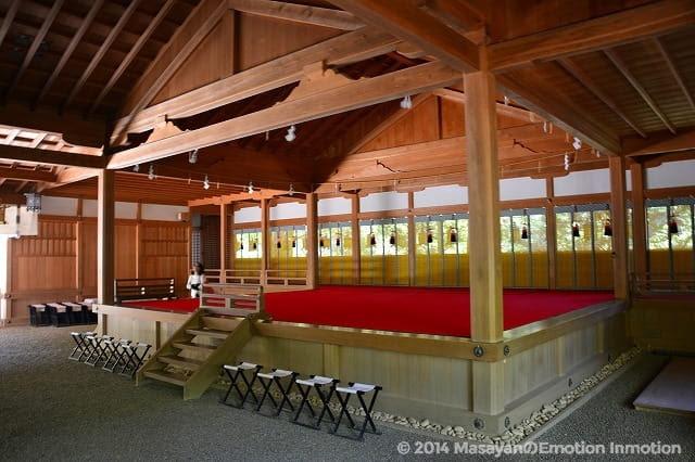 天河神社の舞殿