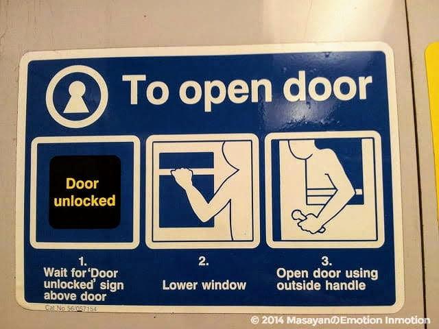 カレドニアン・スリーパー/ドアの開け方