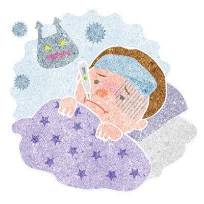 発熱で苦しい患者