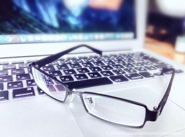 PCと眼鏡