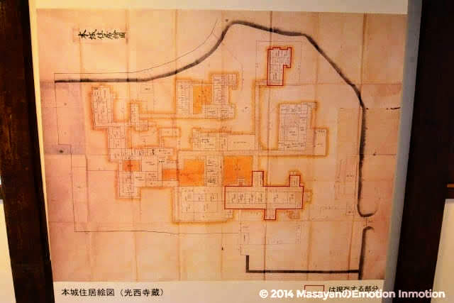 川越城本丸御殿地図