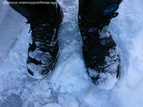 PALLADIUM PAMPA SPORT CUFF WPNは雪を跳ね返す
