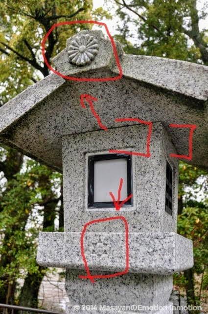 伊勢神宮の謎めく石灯篭