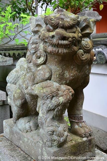 鏡神社狛犬