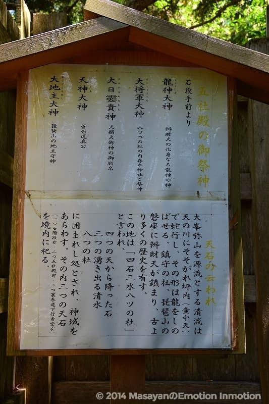 天河神社五社殿看板