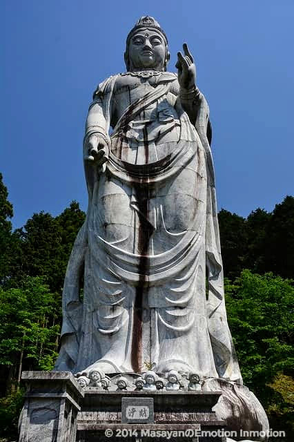 天竺渡来大観音石像