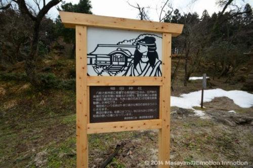 稲田神社案内板