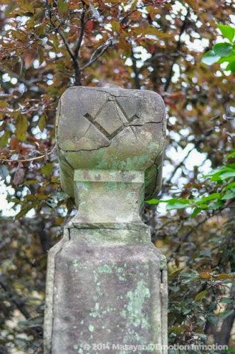 グラバー邸内のフリーメイソンのシンボルマーク